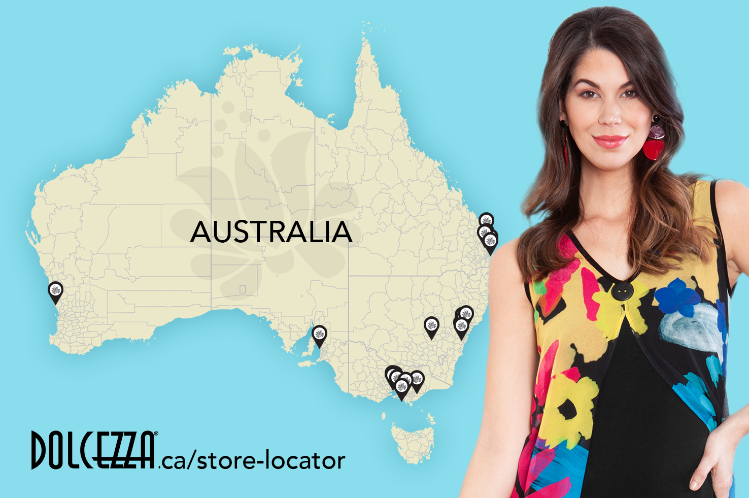 Dolcezza Australia Map-Newsletter