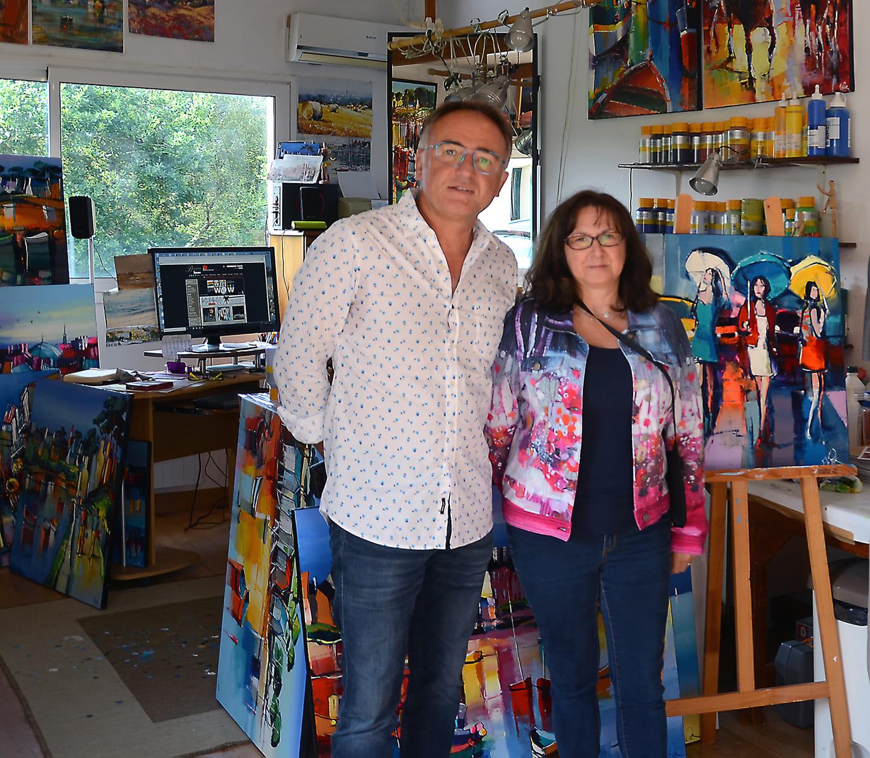Eric Le Pape avec notre designer Elaine Guérin